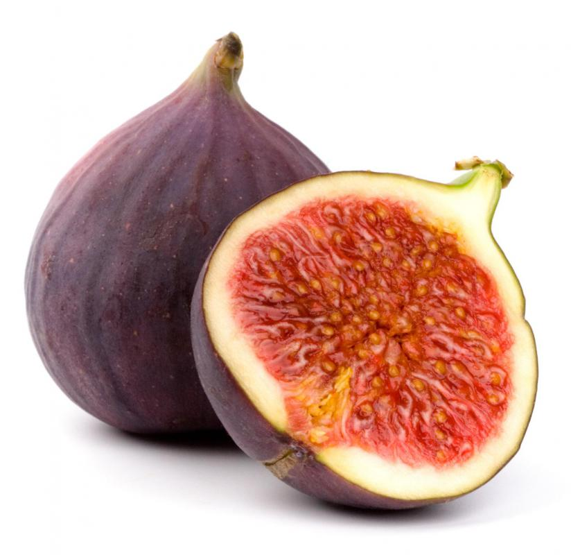 Whole and cut fig.