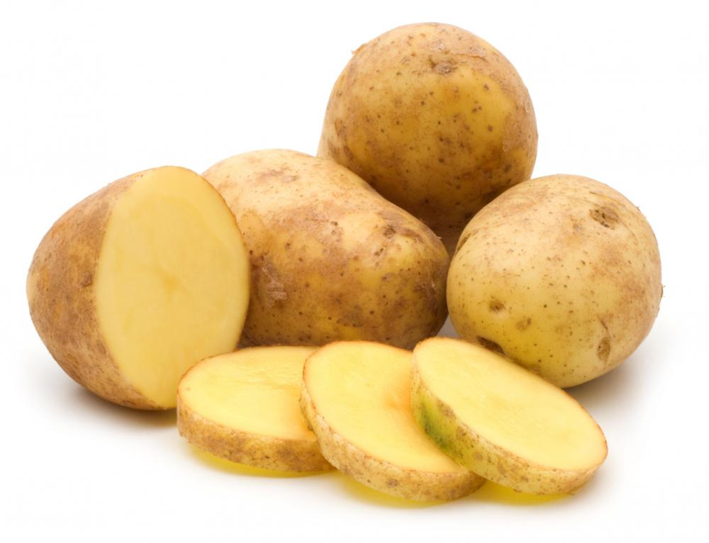 Raw potatoes.