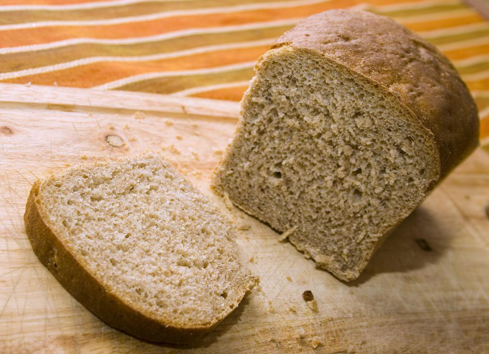 Bread is high in carbohydrates.
