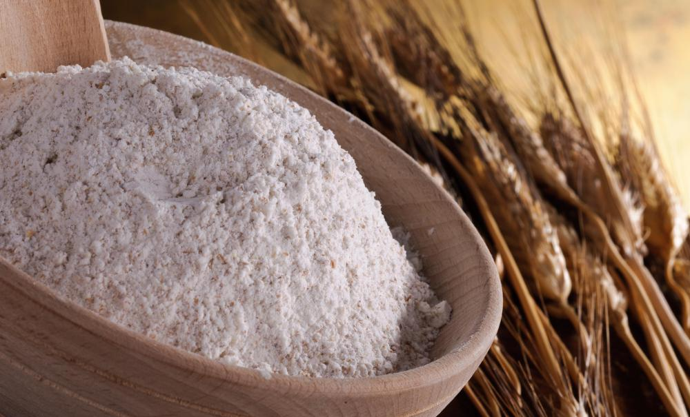 Whole wheat flour undergoes a refining process that removes some of the nutritional value.