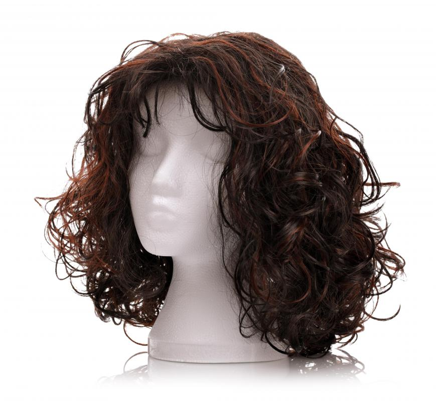 Stands are used to protect wigs and keep their shape.