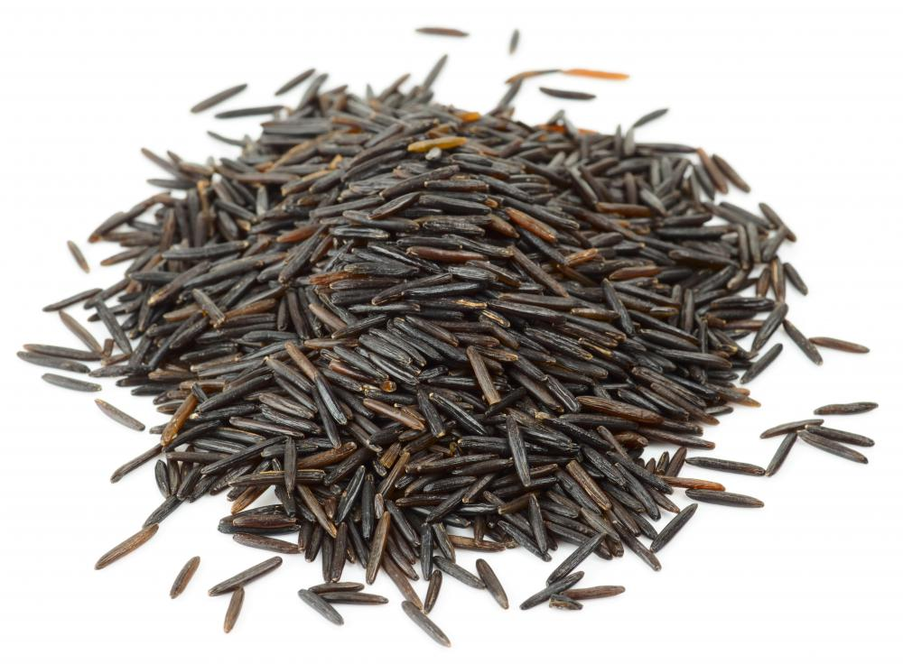 Wild rice can be a good source of protein for vegetarians.
