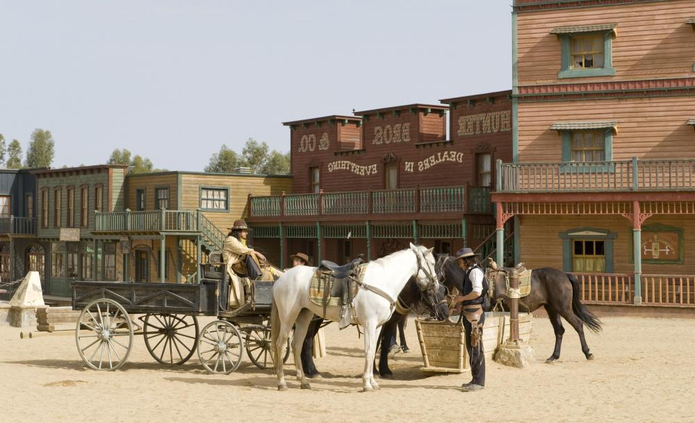 Towns springing up throughout the western United States in the 1800s typically featured a saloon.