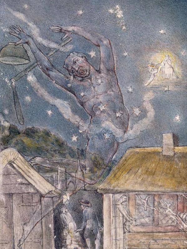 Artist and poet William Blake drew heavily from mythology and inner visions to create unique illustrated books.