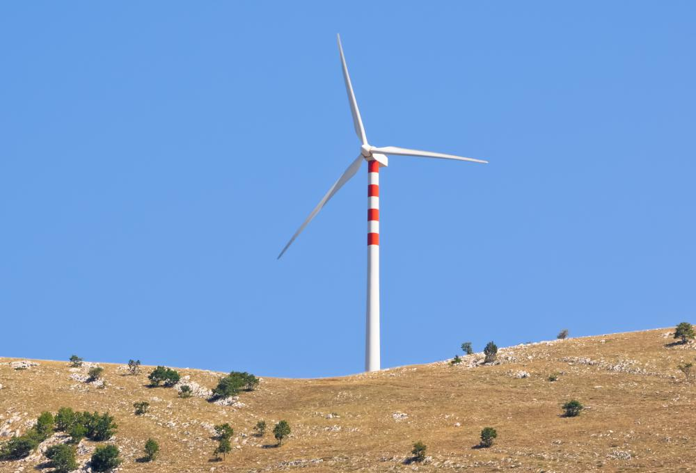 Wind turbines are propeller turbines used all over the world.