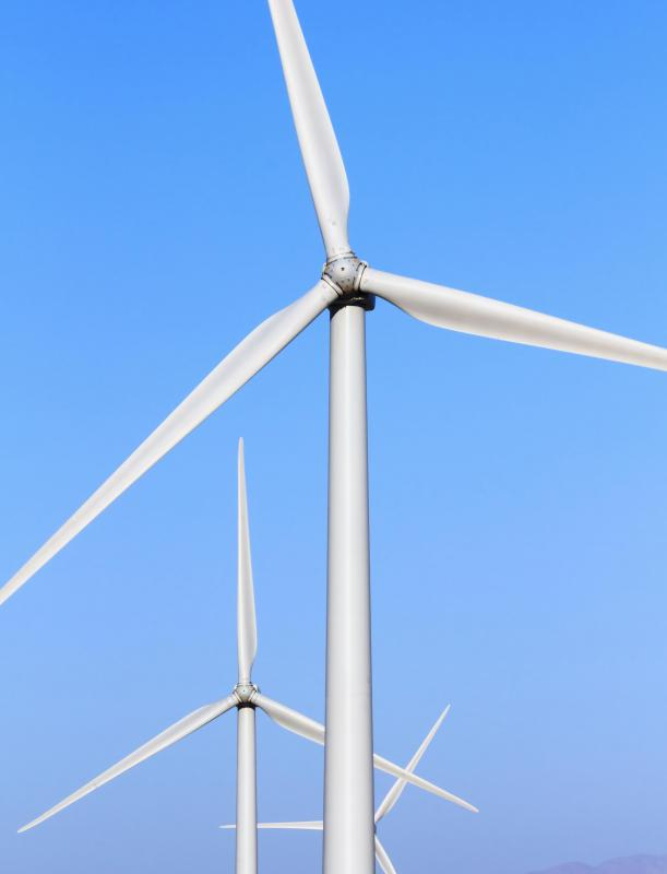 Wind turbines are one source of power used by the TVA.