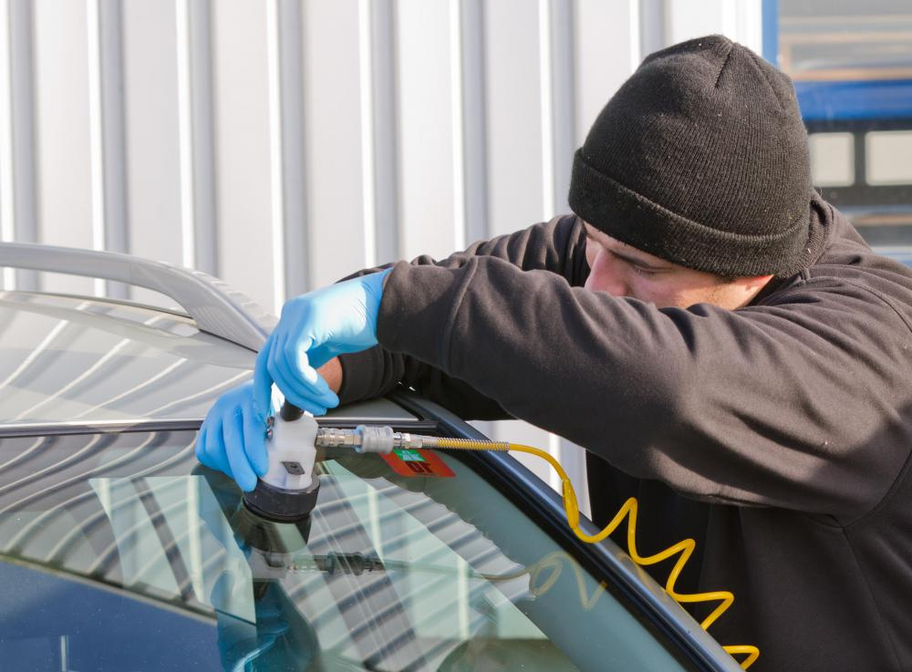 A professional may be required to repair or replace a windshield.