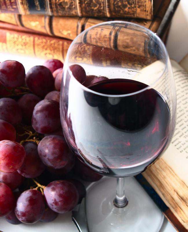 Wine contains resveratrol.