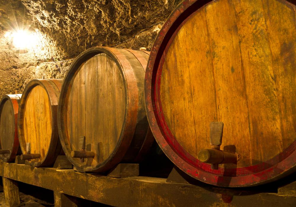 Cognac is rated based on the age of the wooden casks in which it is stored.