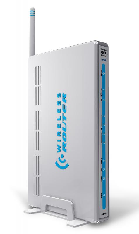 A wireless router, which is used with a network card.
