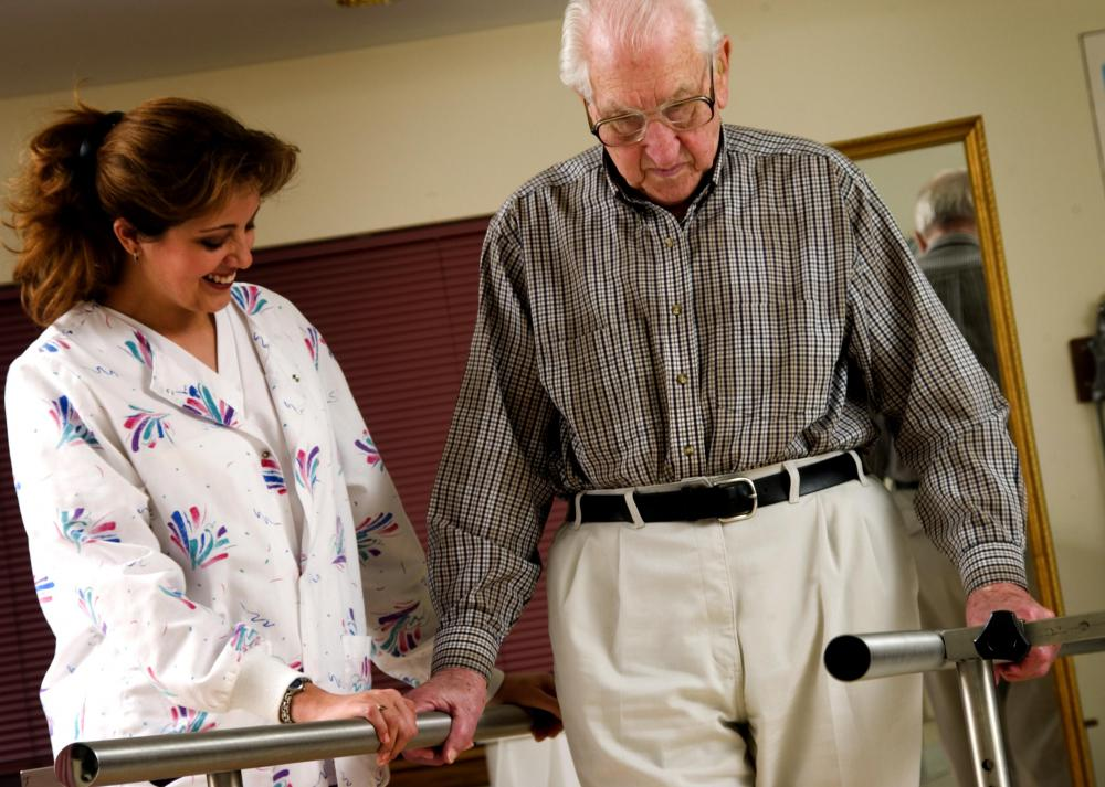 Physical therapists can choose to work in hospital or home settings.