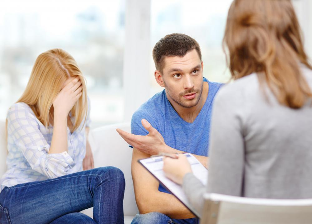 Couples in marriage therapy may be asked questions to help each person think about how their behavior affects the other.