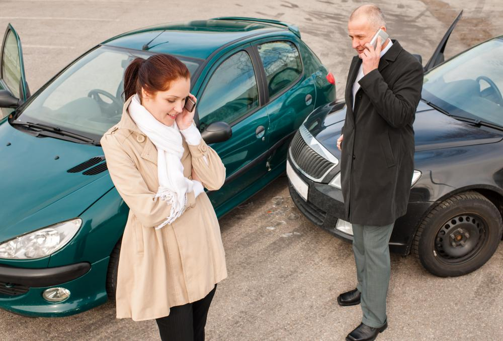 Drivers should exchange insurance information after an accident and provide the details to their own insurance company.