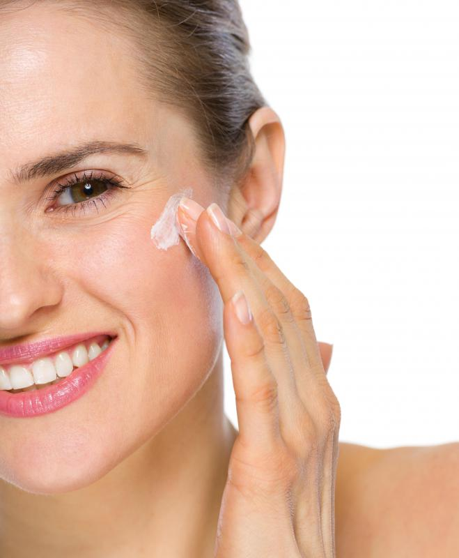 A complexion bar may be used in conjunction with a facial cream.
