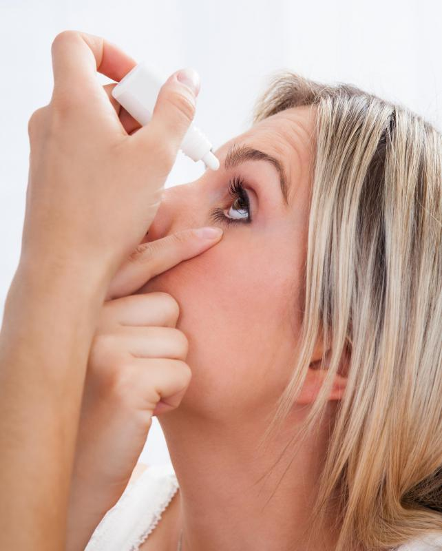 Cholinergic drugs in the form of eye drops may be used to treat glaucoma.