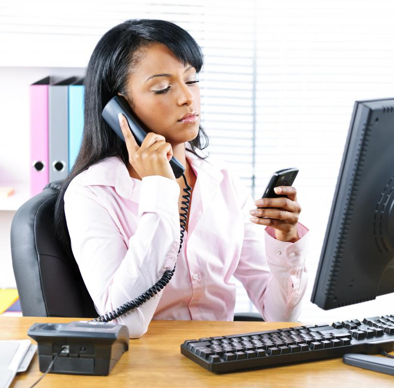Typically, using a cell phone during work hours is considered bad cell phone etiquette.