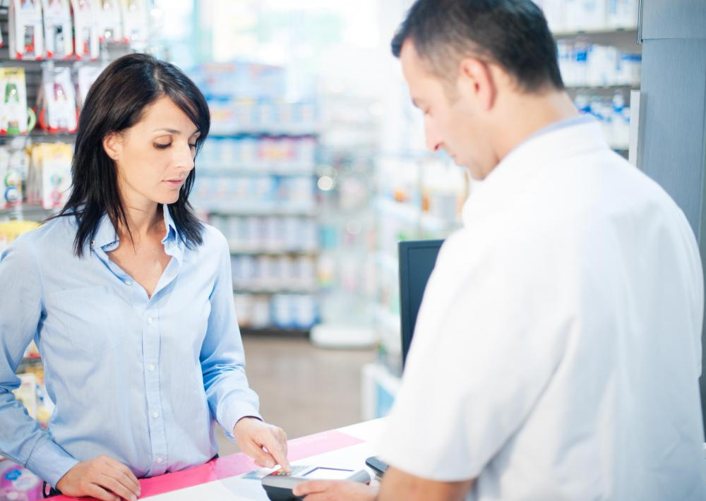 A pharmacy aide may perform customer service duties in a retail pharmacy.