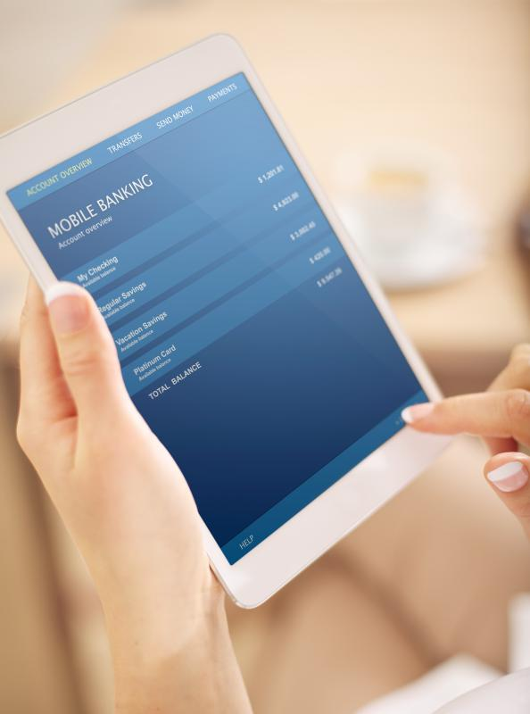 Check deposits are among mobile banking services now available via portable devices.