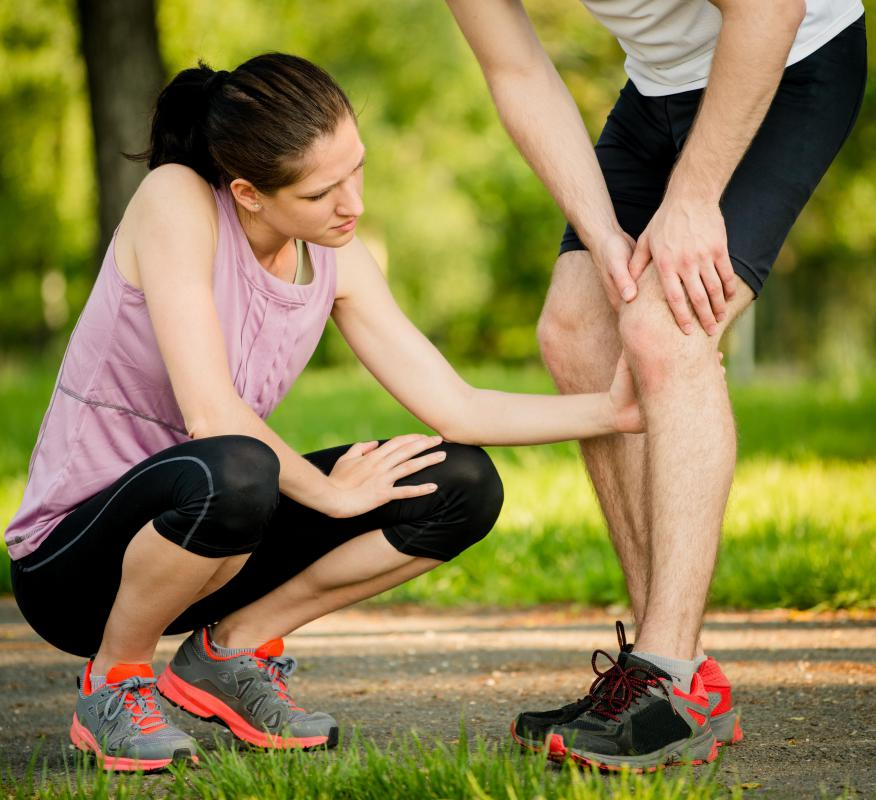 People who start training can develop shin pain because their legs are not accustomed to intense exercise.
