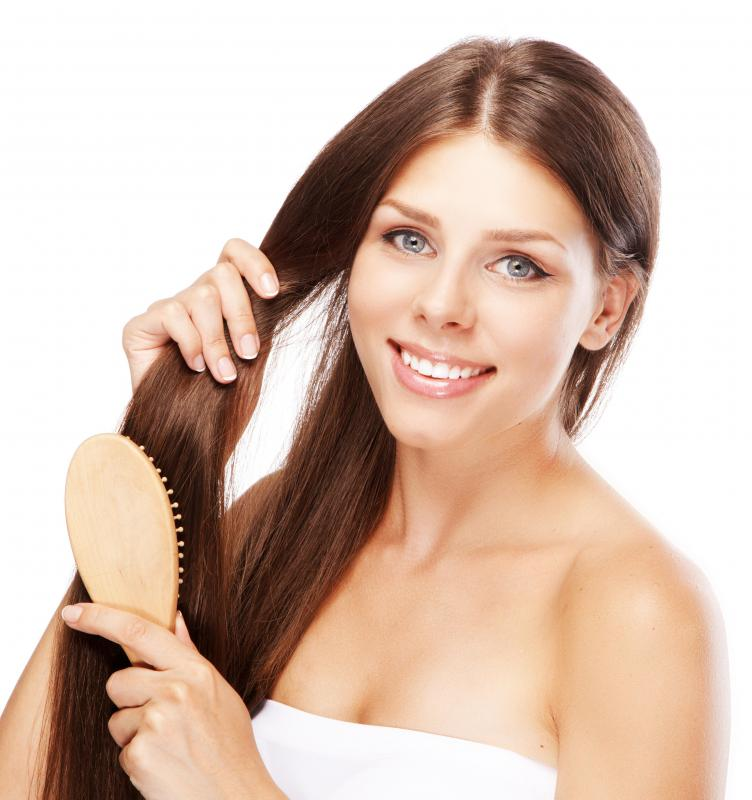 Brushing hair too often can damage it.