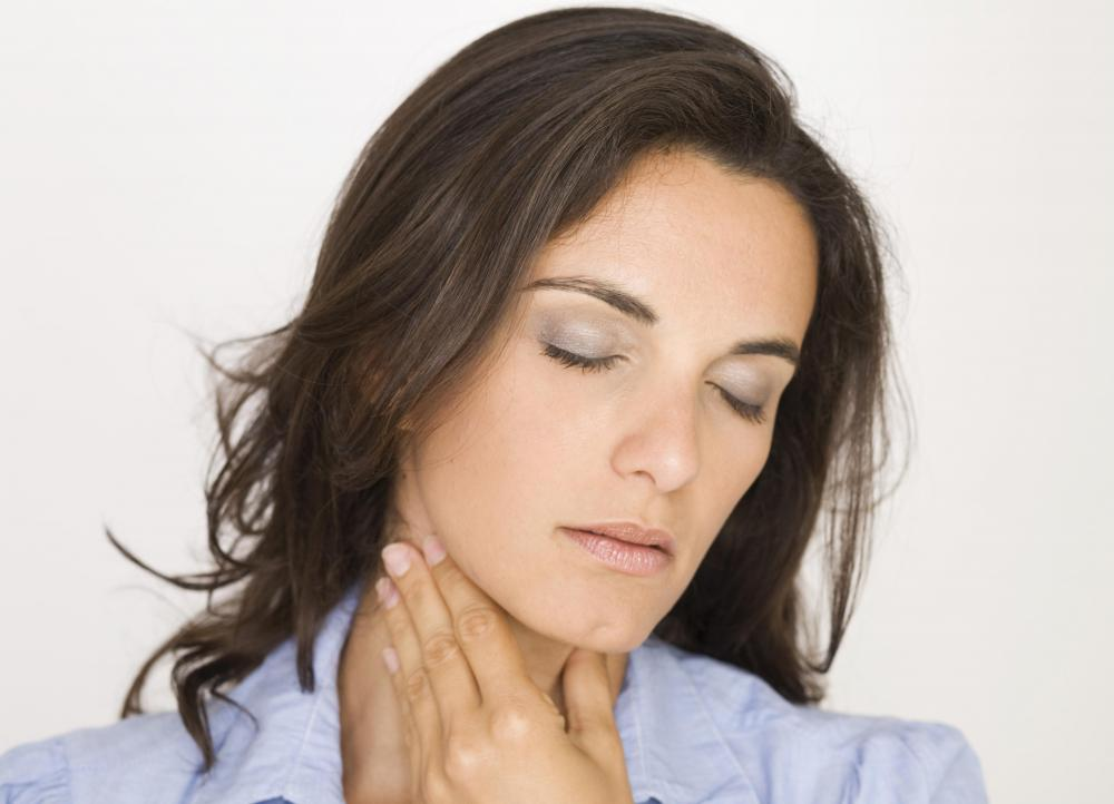 Enlarged tonsils often cause throat pain.
