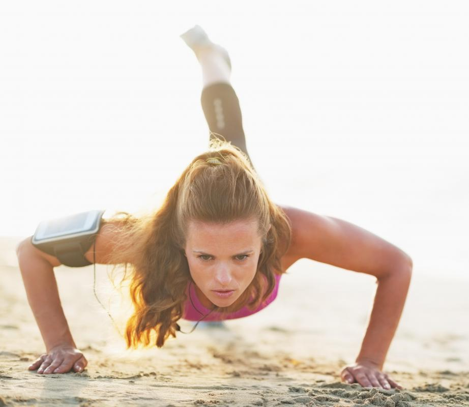 Doing push-ups is a good way to use the body's own weight to being bodybuilder training.