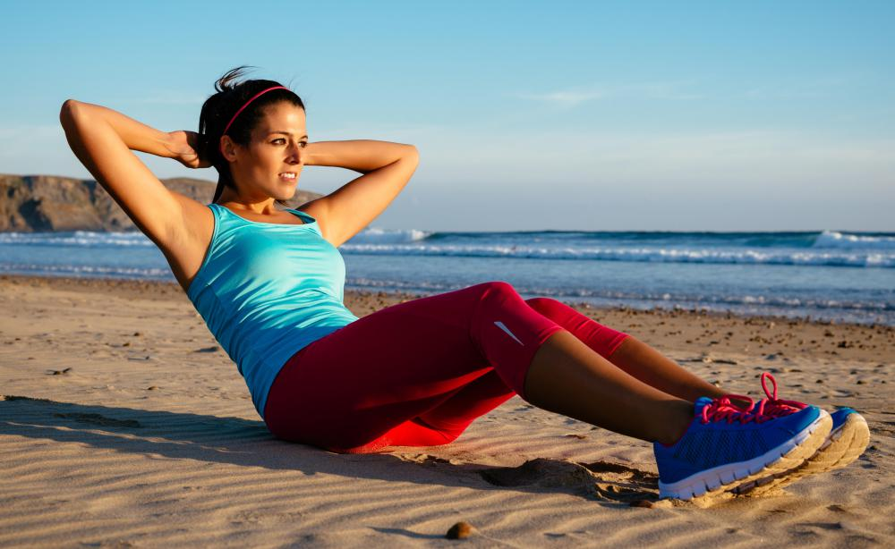 Sit-ups and crunches can be completed without equipment.