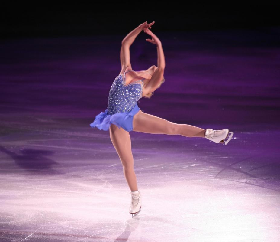 Figure skating is a form of ice skating.