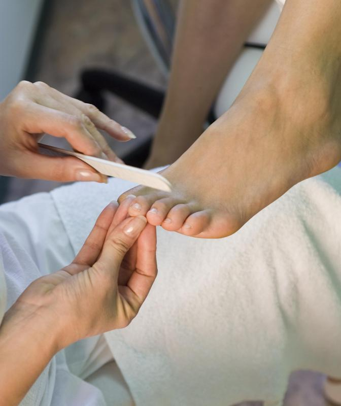 A toenail infection may occur as a result of improper filing.