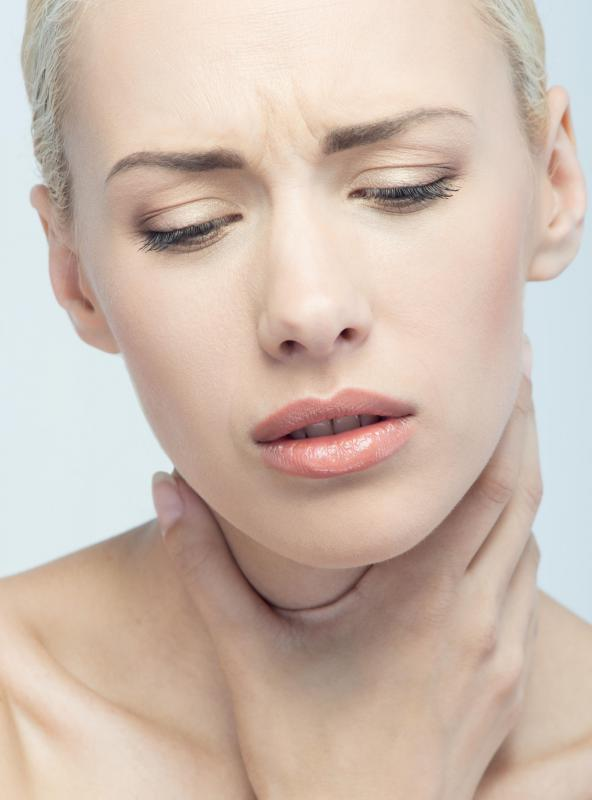Symptoms of mono may include swollen lymph glands, a sore throat, and fatigue.
