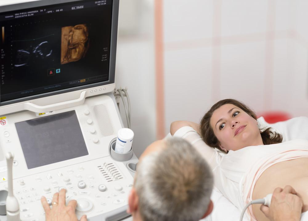 The symptoms of some genetic mutations may be visible via ultrasound.