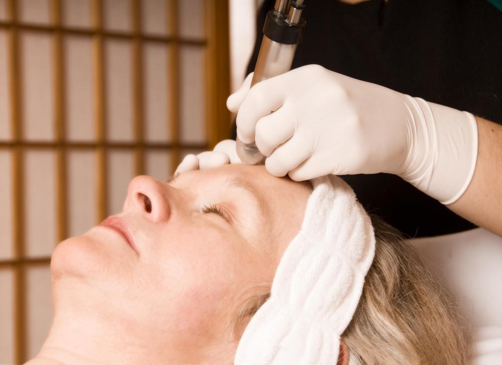 Some spas offer facial laser treatments which can reduce the appearance of skin imperfections.