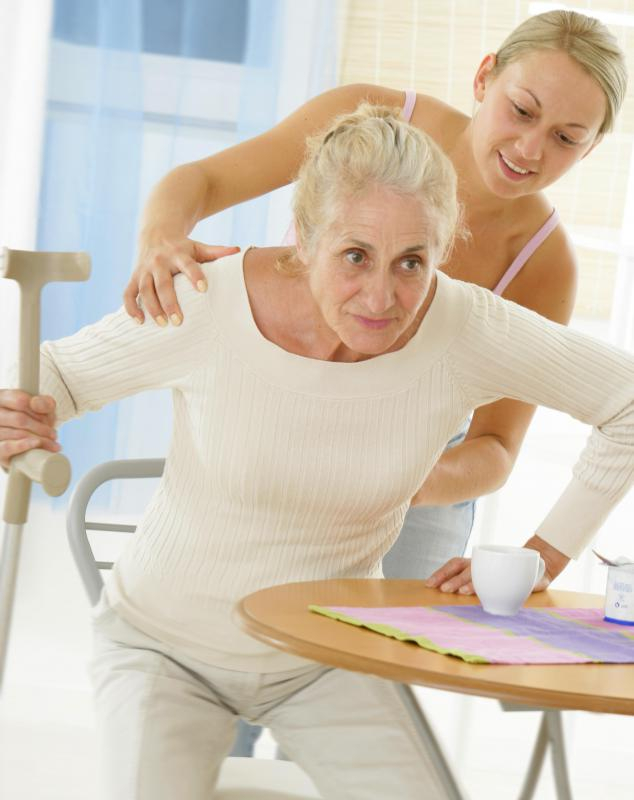 A home caregiver may help assist people who have physical disabilities.