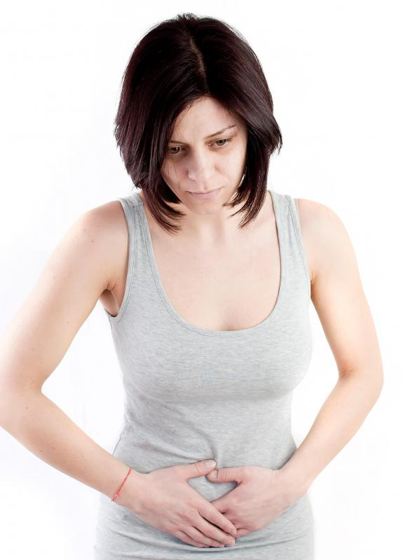 Heavy menstrual bleeding may be accompanied by abdominal cramps.