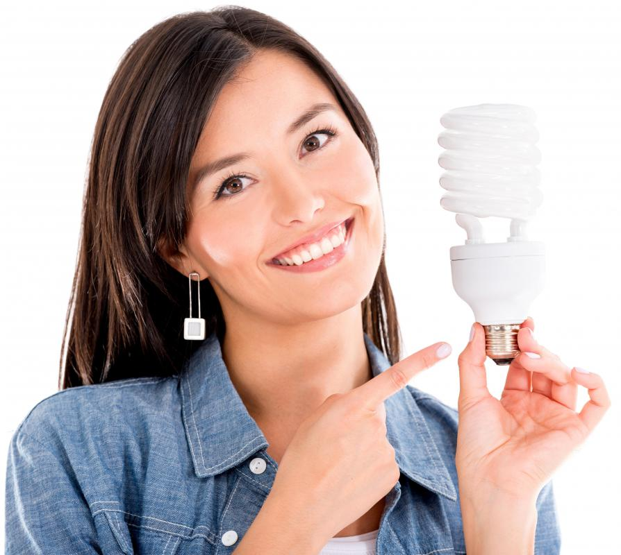 Purchasing energy efficient light bulbs has a customer value of saving money on electricity costs.