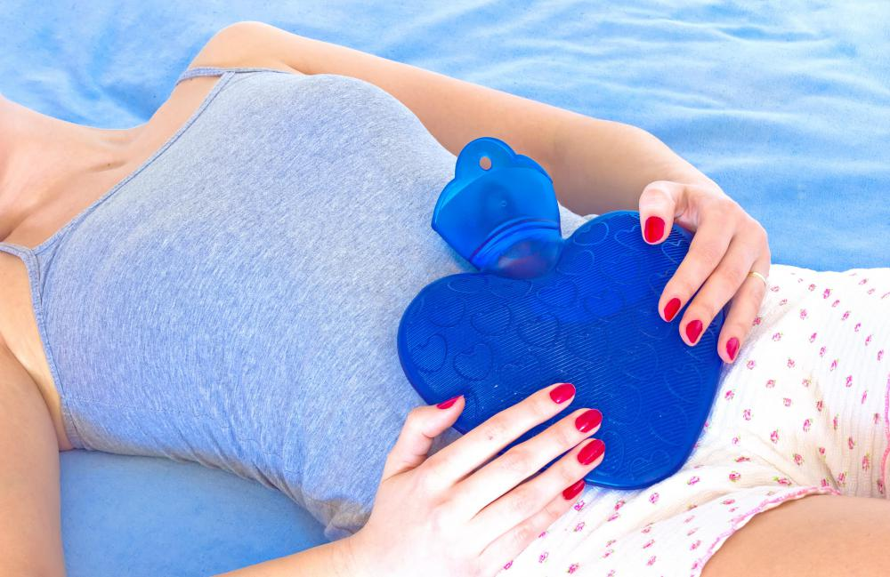 An ice pack may help relieve pain associated with menstruation pain.
