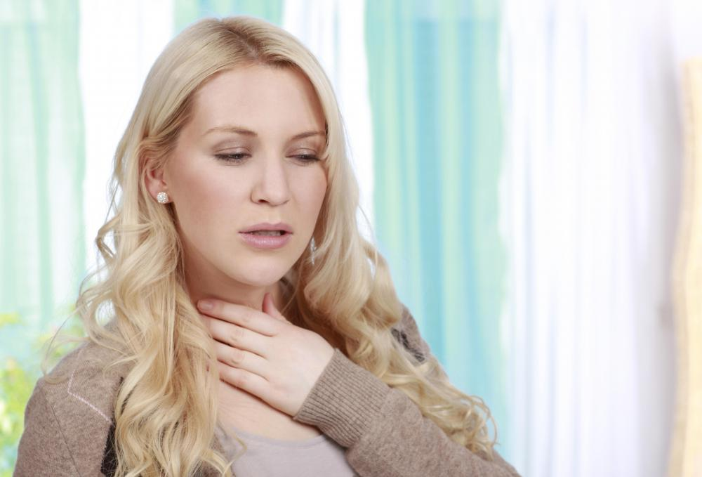 A sore throat might accompany a bronchial cough caused by the common cold.