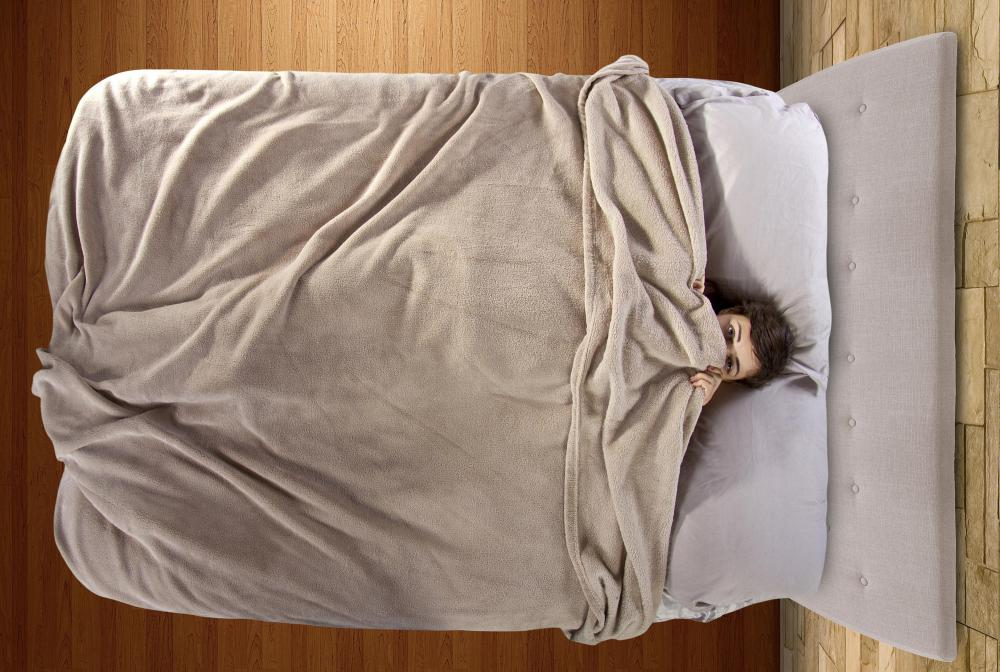 Someone with an anxiety disorder may have difficulties getting out of bed or falling asleep.