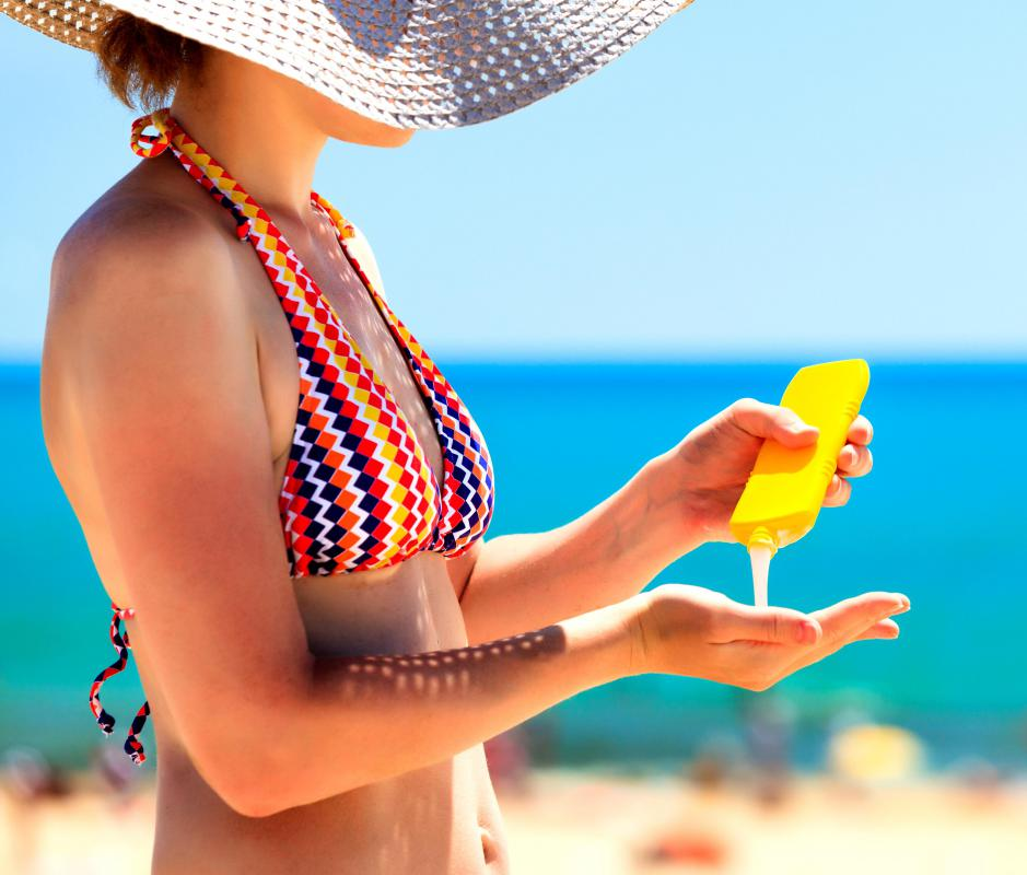 To prevent skin from darkening, begin by wearing a broad spectrum sunscreen that blocks both UVA and UVB rays.