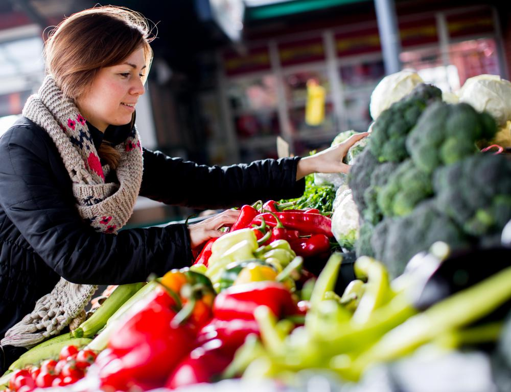The vegetables and produce sold at a sunshine market tend to be freshly picked.