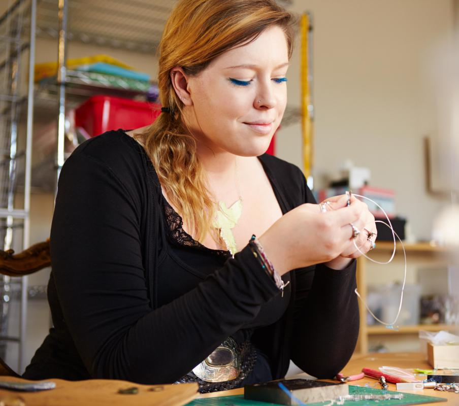 Trashion jewelry often uses discarded and waste metals, both from within the jewelry industry and outside of it.