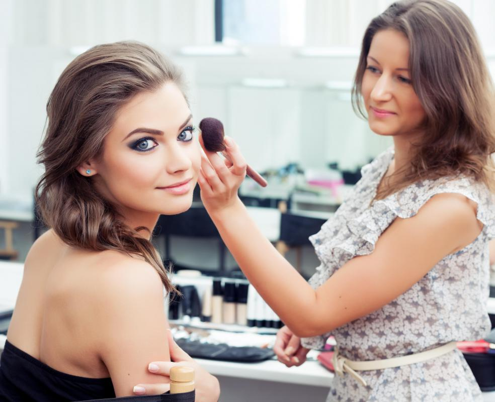 Estheticians are typically trained in skin care and makeup application.