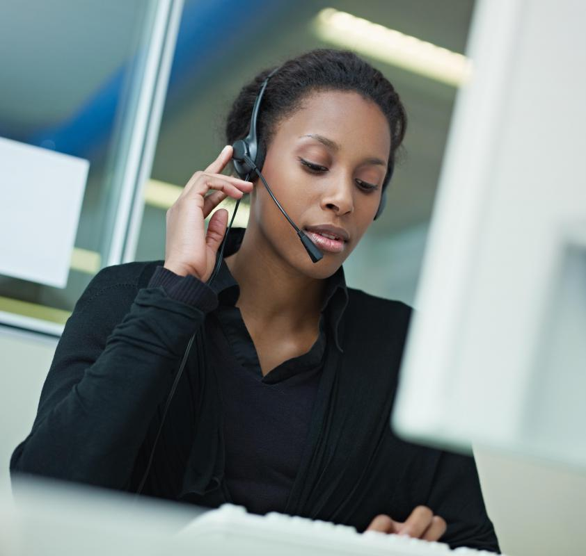 A financial service representative may work in a call center.