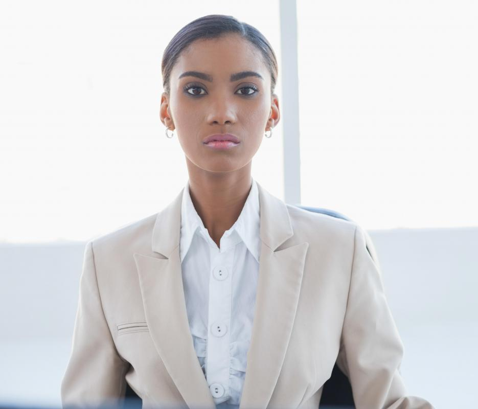 Women can appear more confident and authoritative in a blazer.