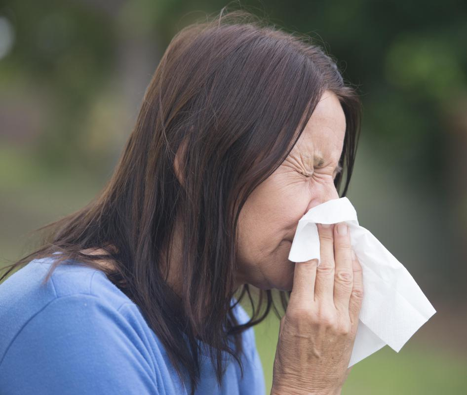 Sneezing may be caused by rebound congestion.