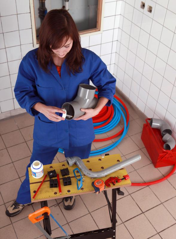 In most areas, a plumber must have several years of hands-on experience before she can become fully licensed.