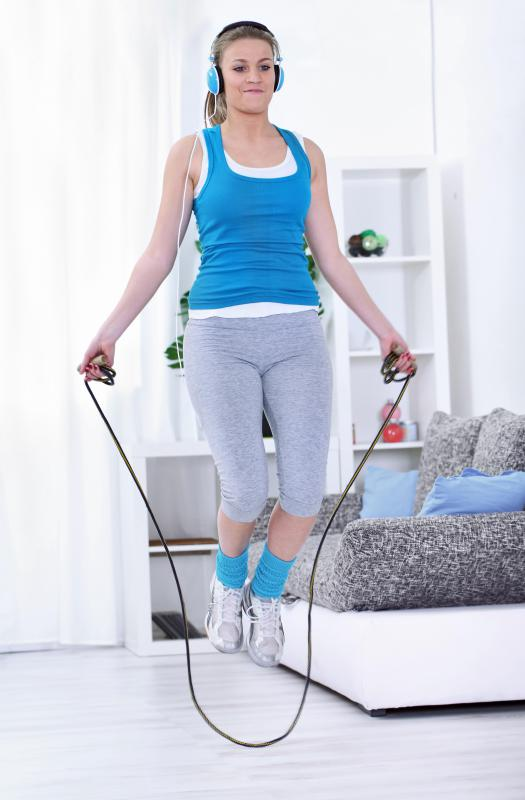 Jumping rope can help tone the calf muscles.