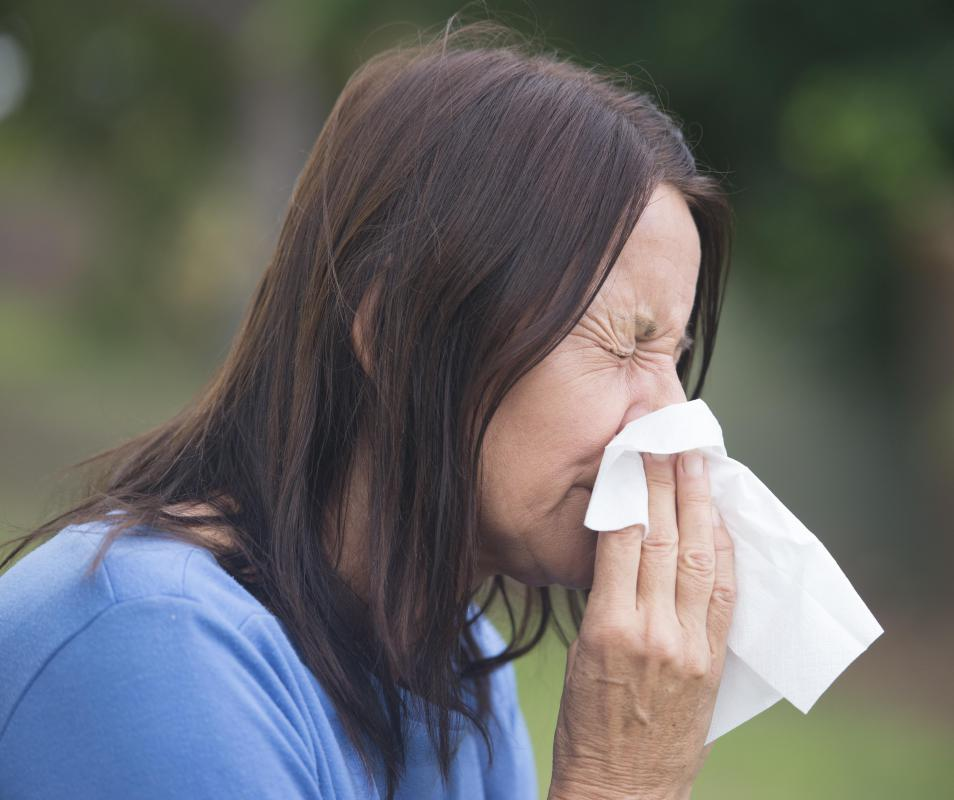 Individuals who have allergies to pets may experience a runny nose and sneezing.