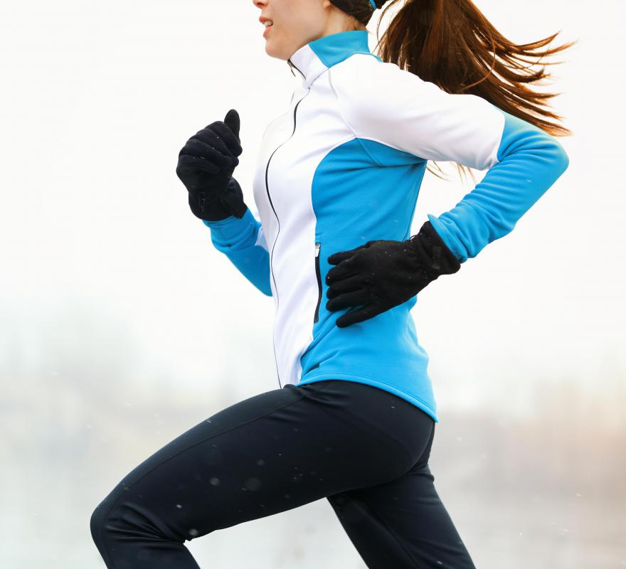 Running jackets are usually made out of nylon.