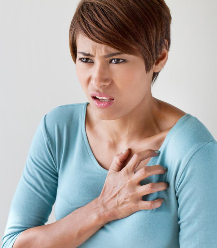 Women often experience different symptoms than men during a heart attack.
